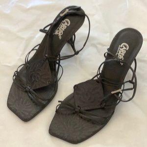 Carlos black sandals 9